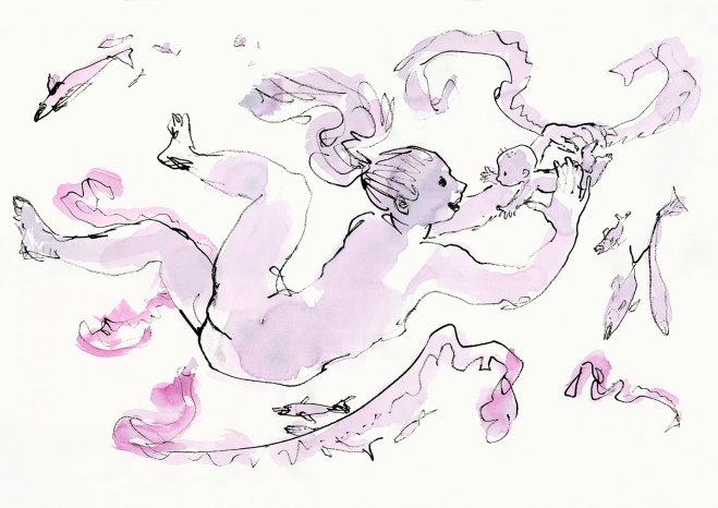 quentin-blake-mothers-and-babies-underwater-2012-quentin-blake