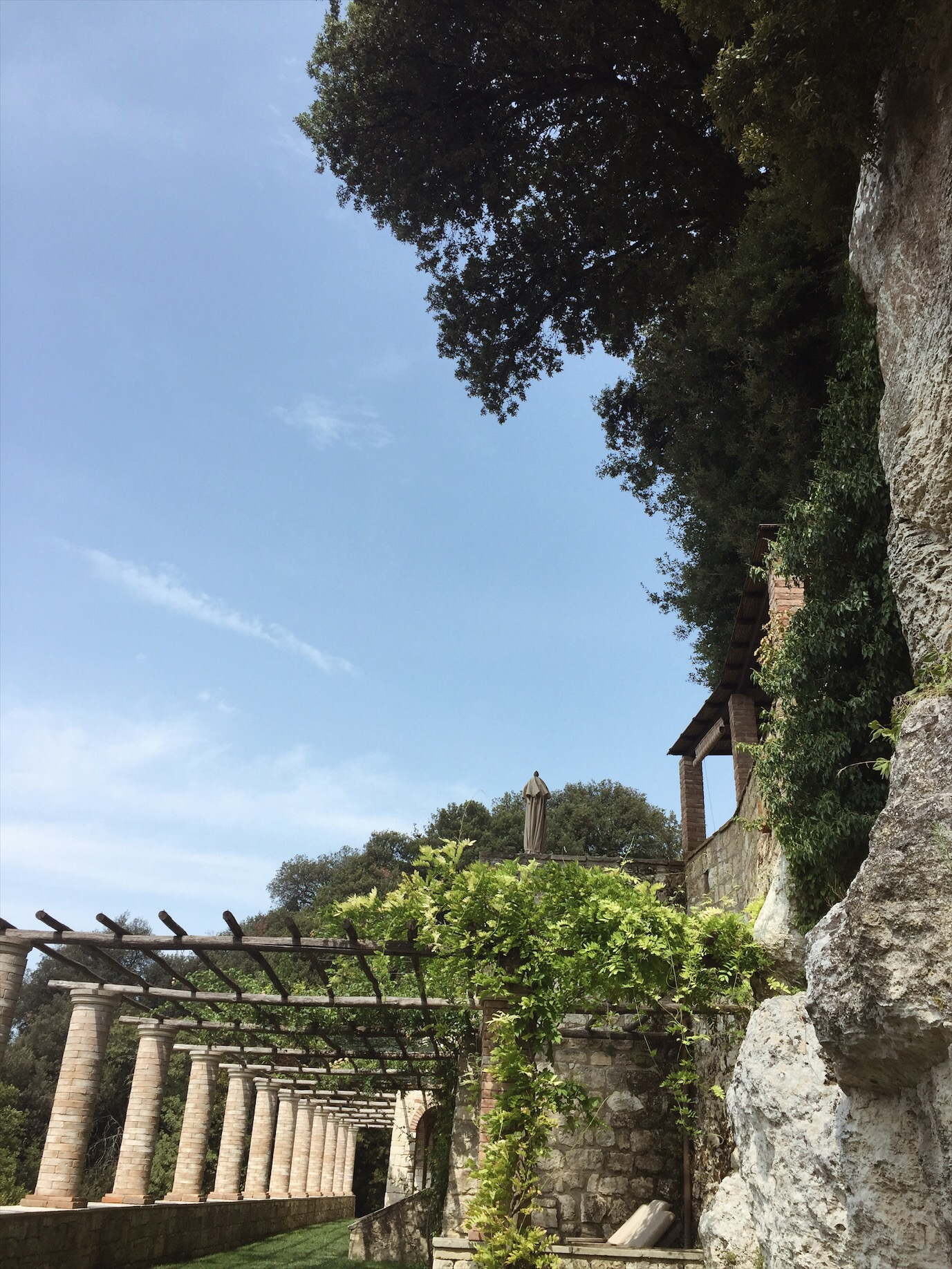 The grounds of Borgo Pignano