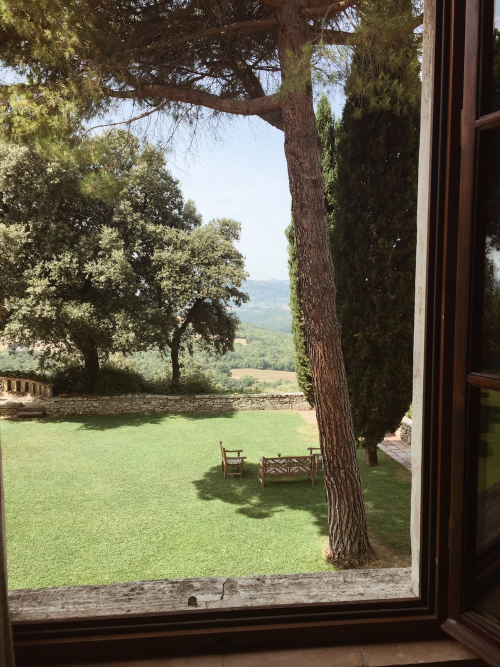 View from the house at Borgo Pignano