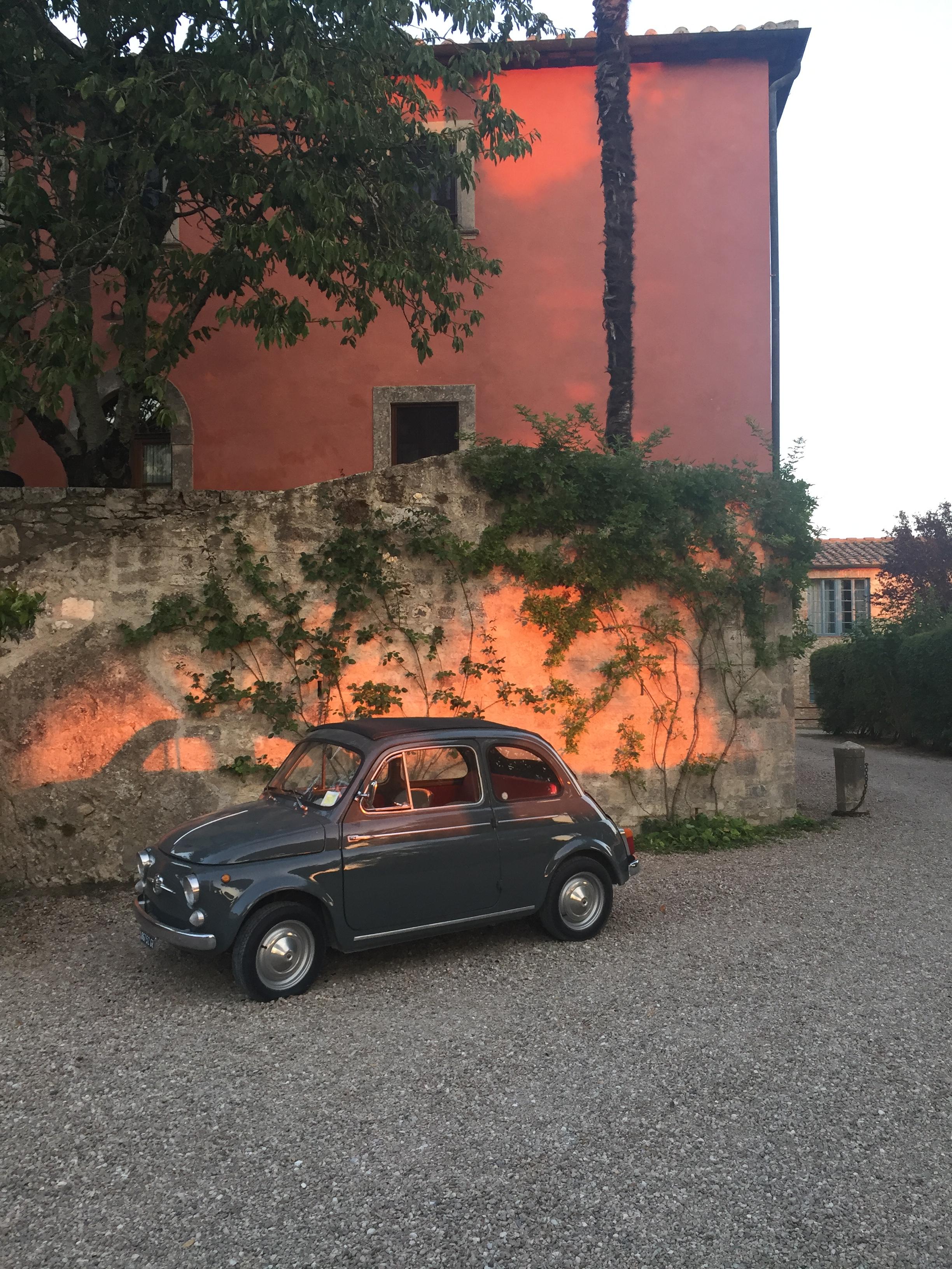 Fiat car at Borgo Pignano