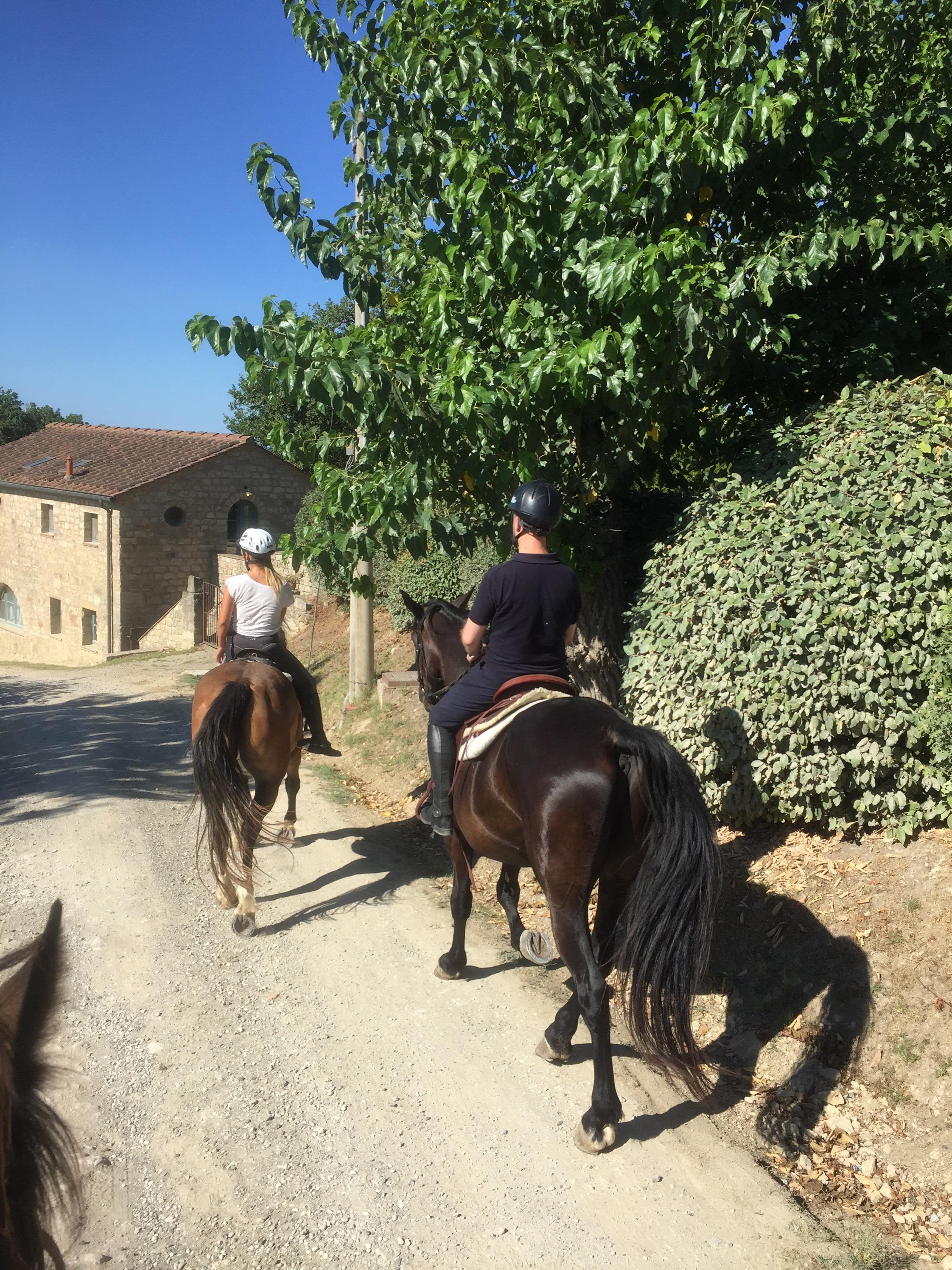Riding through the hamlet