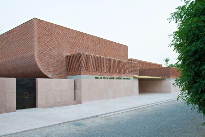 Front Entrance YSL Foundation Jardin Majorelle/ Photo Nicola Mathieus