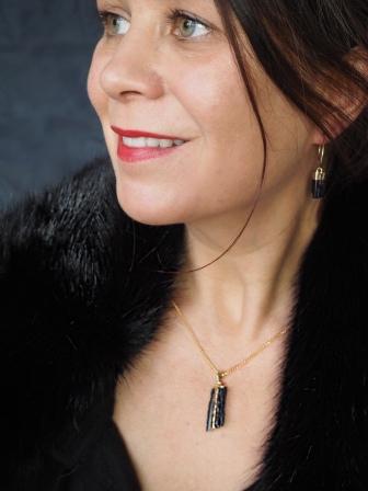 Tourmaline Hoop Earrings £38